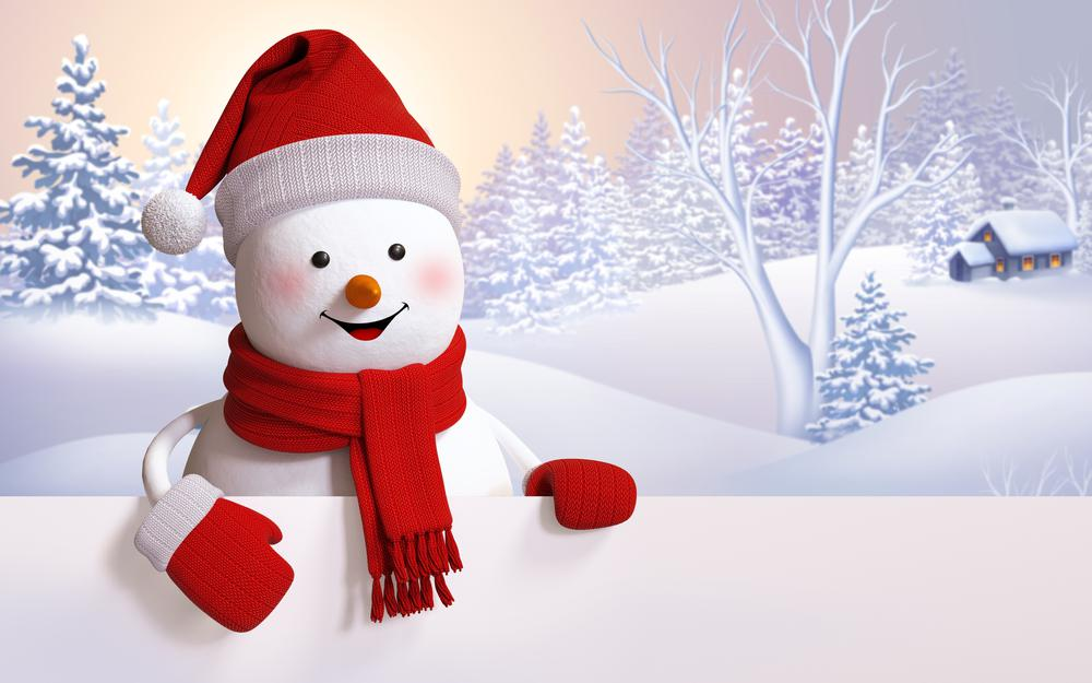 Snowman, cute, happy, winter, snowman, snow