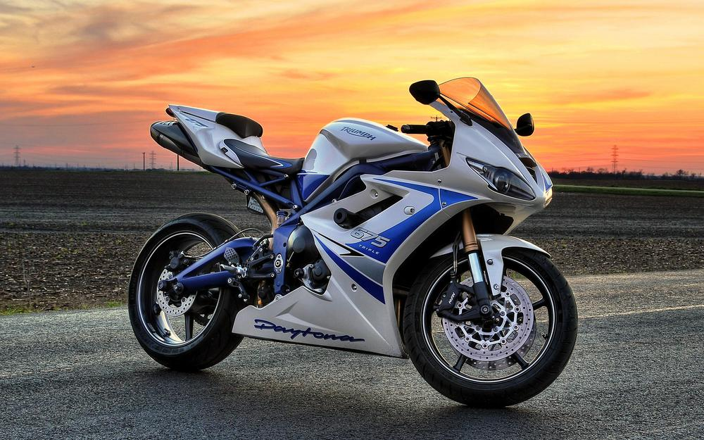 Motorcycle white