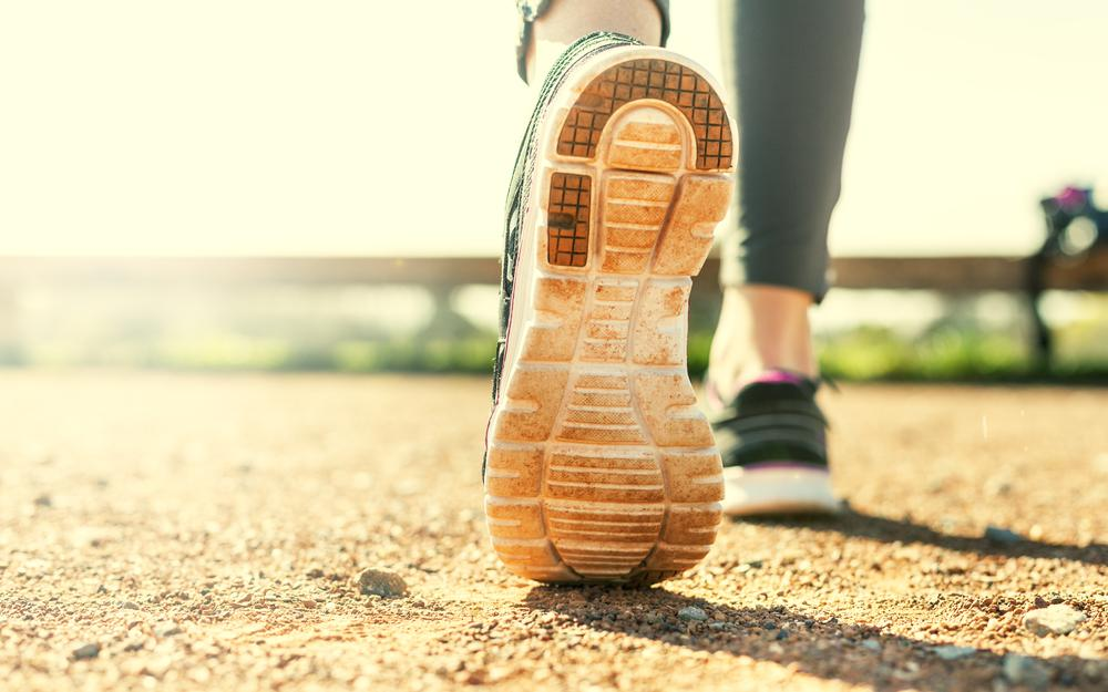 Sole, running shoes, physical activity, woman