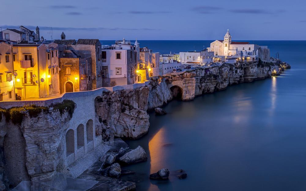 Italy adriatic sea, architecture, coast landscape wallpaper