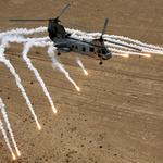 Helicopter with thermal missiles wallpaper