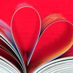 Heart, leaf, book
