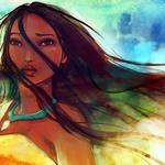 Pocahontas, look, girl, strands, wind, pride, locket