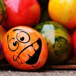 Emoticon, easter, easter eggs