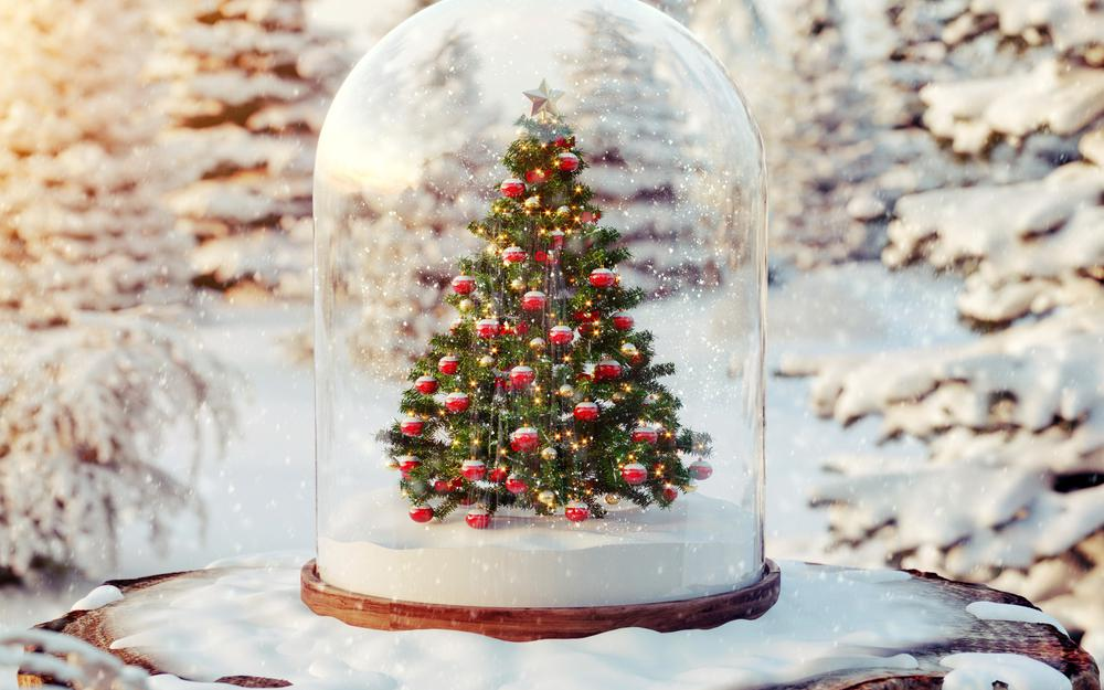 Spruce flask snow winter toys wallpaper