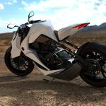 White motorcycle sports