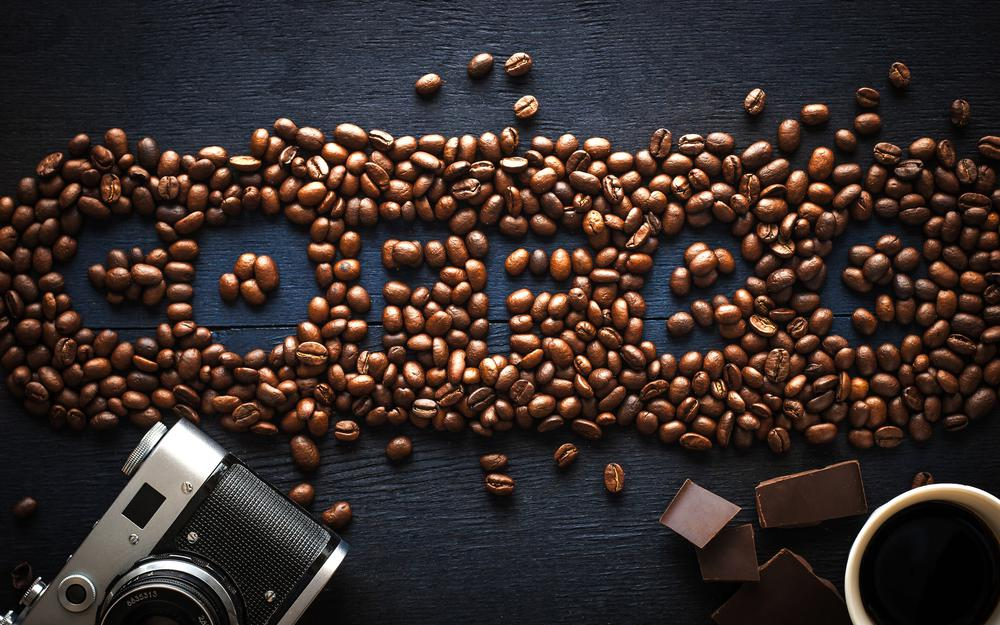 Coffee, beans, coffee, grains
