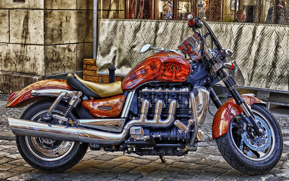 2, motorcycle, colors, streetfighter, british, 3-cylinder 2294 cc, cc, tuning, triumph rocket iii, 3-liter