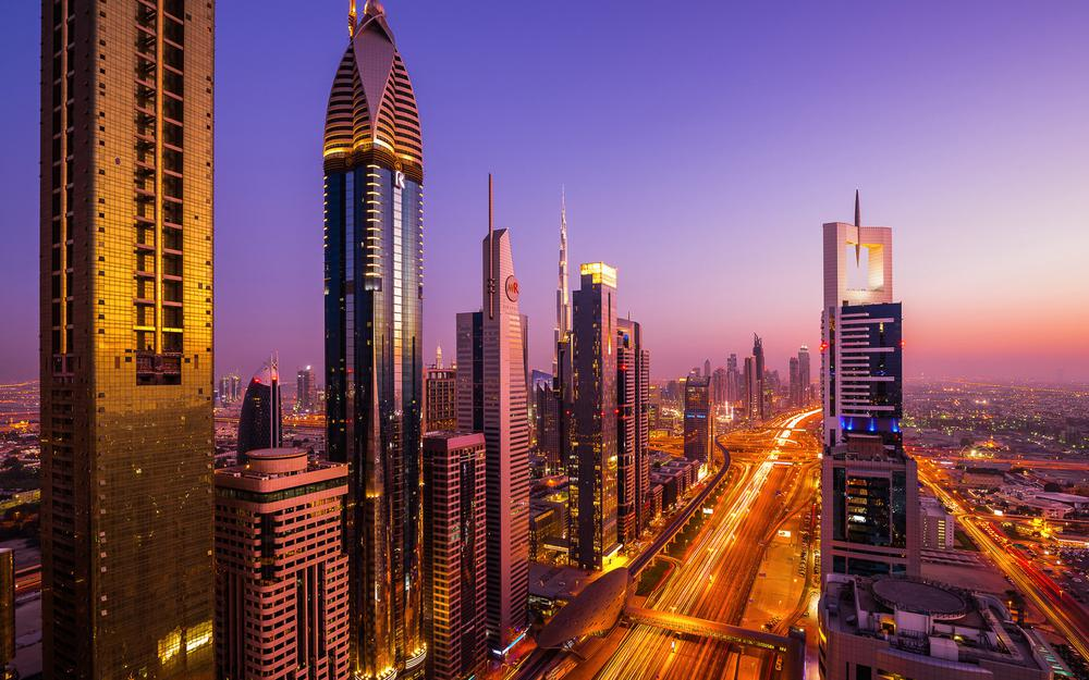 Dubai city view desktop wallpaper
