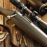 Sniper scope on a rifle