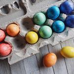 Easter, eggs, dyed