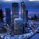 Skyscrapers moscow river landscape pictures