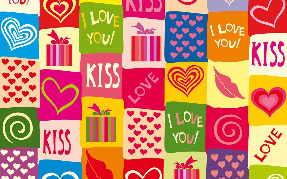 Hearts, love, i love you, colorful, background, sweet