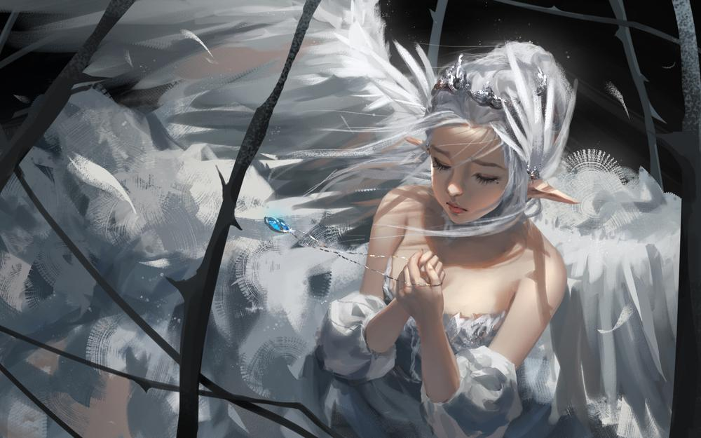 Angel in cage