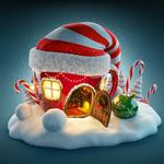 House hat gifts new year snow wallpaper