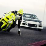 Car motorcycle race superelevation wallpaper