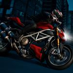 Motorcycle red night