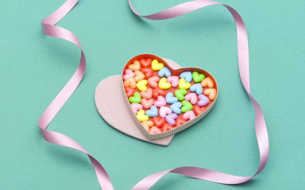 Candy, colorful, heart