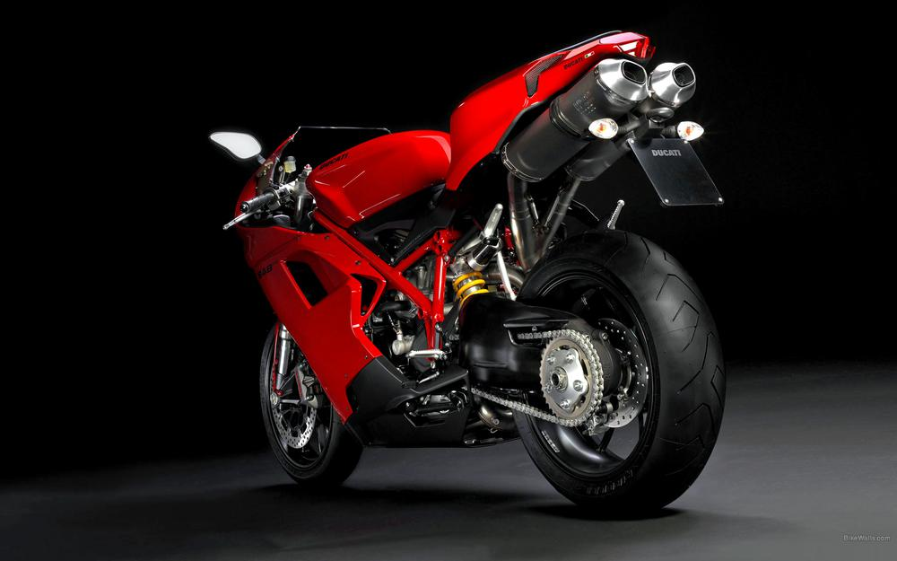 Motorcycle red