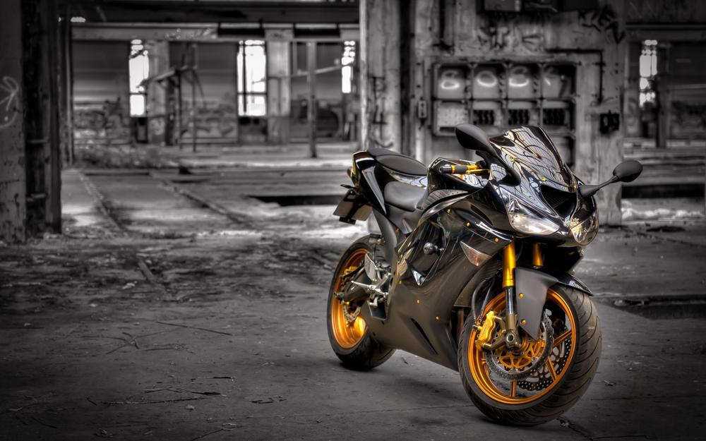 Background, kawasaki zx6-r, motorcycle