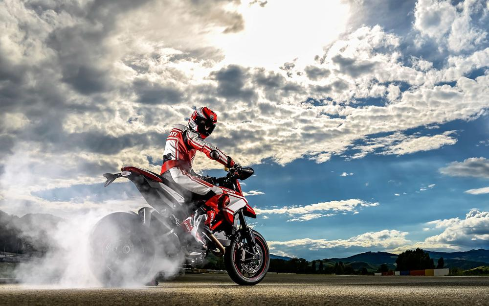 Motorcycle, sky, ducati, bike, hypermotard, 2015