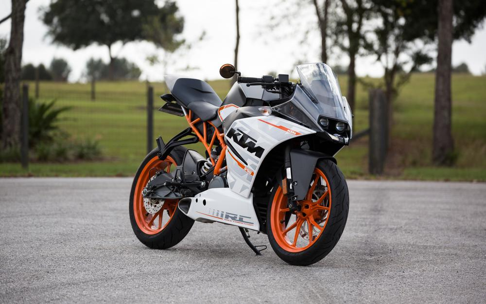 Motorcycle, side view, ktm