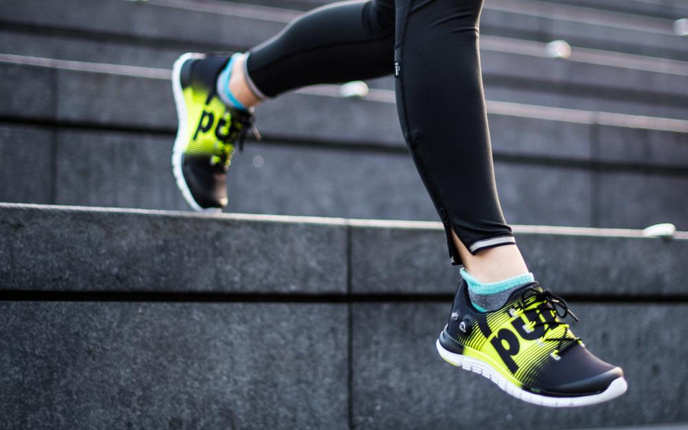 Women, stairs, workout, sports shoes