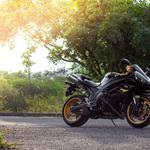 Motorcycle black road wallpaper
