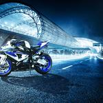 Bmw, road, light, bmw, hp4, motorcycle, bike, white, white