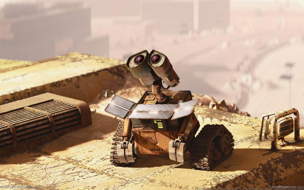 Movies, cartoon, valley, charging, film, cinema, roof, solar panel, wall-e