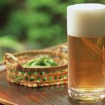 A glass of fresh beer