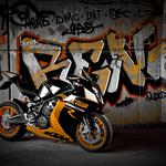 Ktm, rc8 r, supersport, motorcycle, bike, wall, black, graffiti, black, supersport