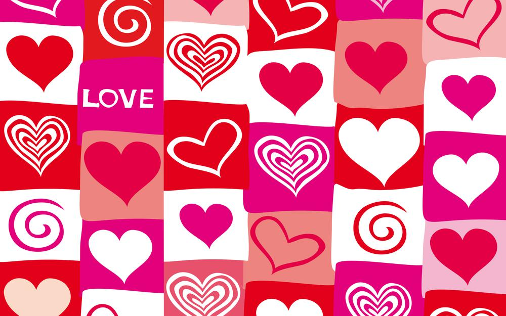 Valentine, red, vector, hearts