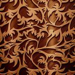 Chocolate color, pattern, twigs