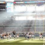 American football, rays of light, rugby