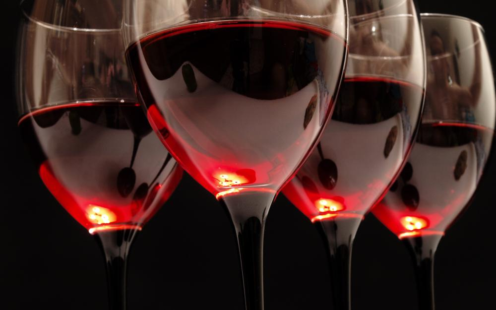 Wine, glass, reflection, red, glasses, black
