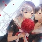 Two girls lily beautiful anime wallpaper