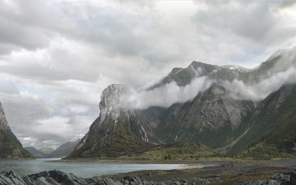 Mountains, nature, body of water, clouds, norwegian fjords and landscape