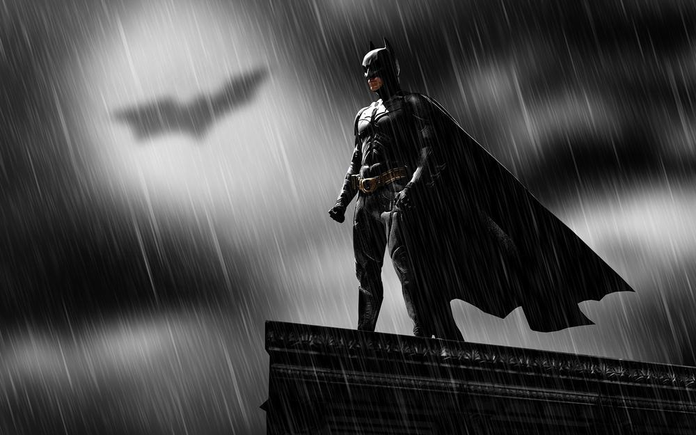 Rain, hero, dark knight, batman, christian bale, comics
