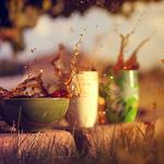 Mood, tea, cup, mug, mugs, macro, drink, splashes, liquid, tea, grass, grass