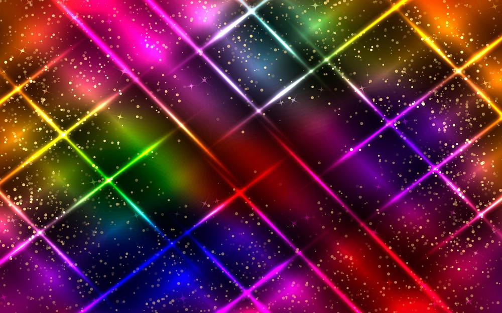 Neon, glitter, colorful, color, abstraction, lines, abstract, neon, glittering  abstract