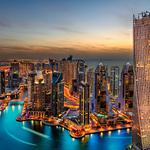 Dubai, harbour, night, hotel, dubai night wallpaper