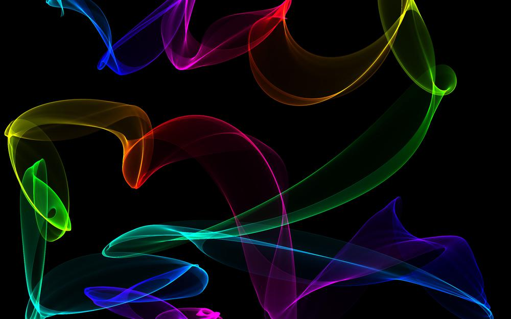 Colors, neon, fractal, abstract