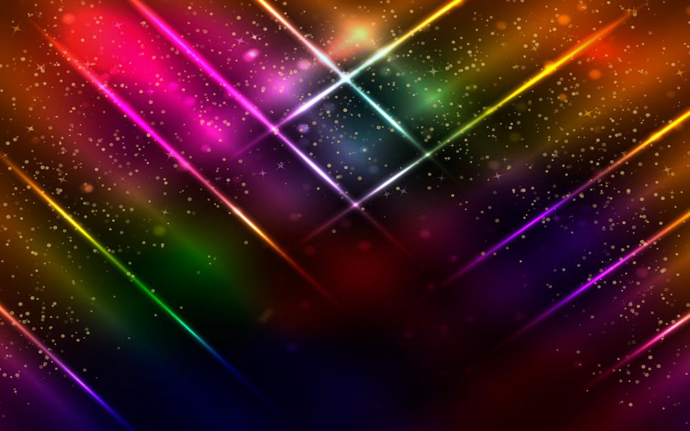 Colorful, neon, glittering, abstract