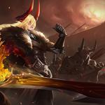 Li xin – burning blade king glory wallpaper
