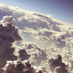 Height, clouds, sky