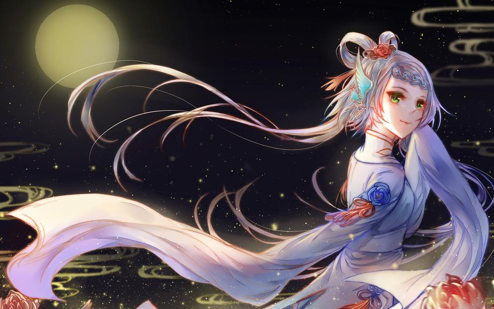 China wind mid-autumn festival, i hope that people will live for a long time.