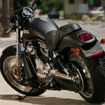 Motorcycle, exhaust, protector