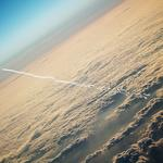 Plane, clouds, height