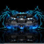 Photoshop, tony kokhan, water, effects, abstract, azure, blue, car